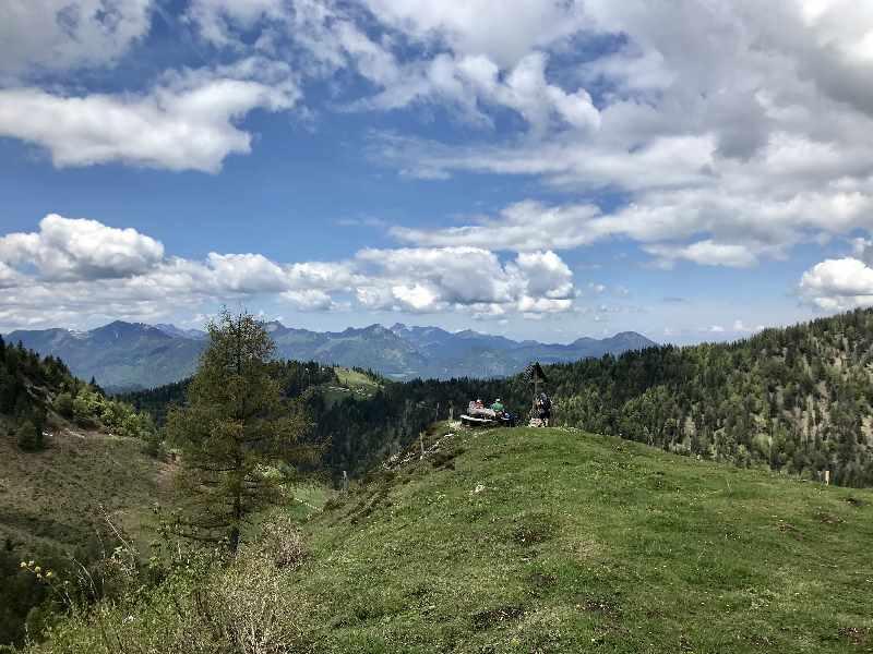 Kufstein Wandern - Aussichtspunkt zwischen Kaindlhütte und Steinbergalm