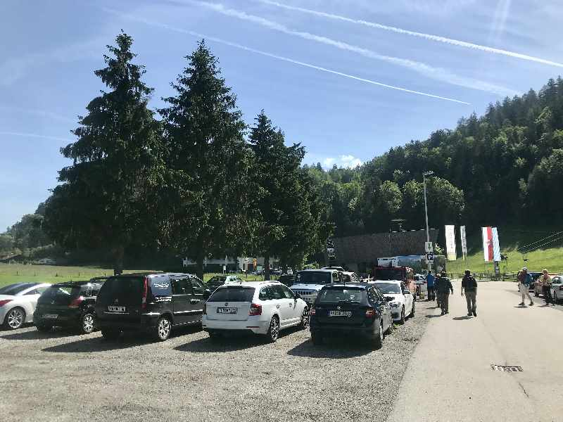 Kufstein parken - bei der Talstation der Bergbahn