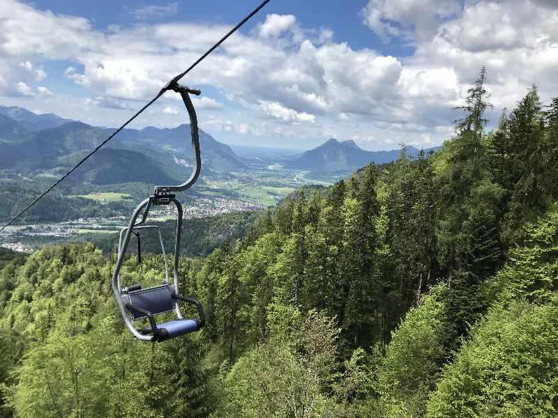 Kaiserlift Kufstein - Bergfahrt mit Traumblick auf das Inntal