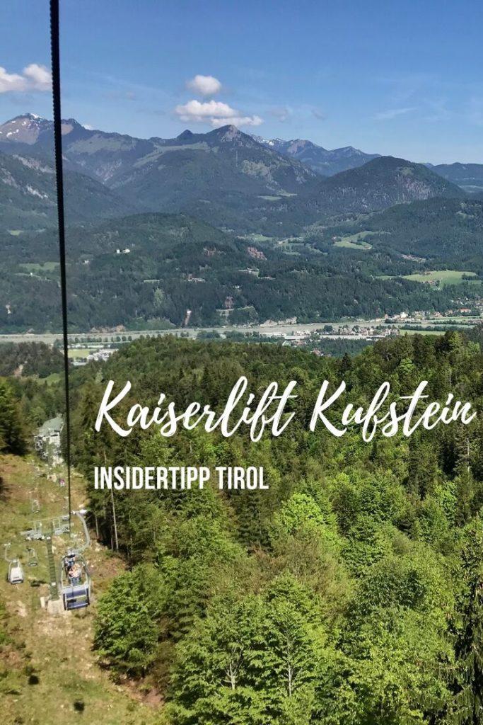 Kaiserlift Kufstein - für den nächsten Tag am Berg merken!