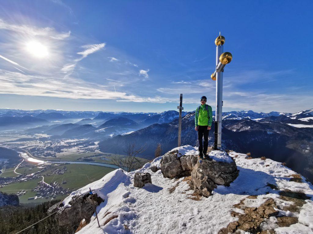Winterwanderung Kufstein auf das Kranzhorn mit seinen beiden Gipfelkreuzen