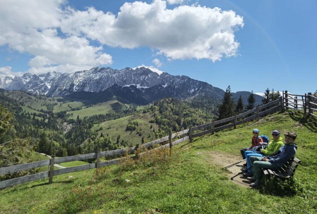 Brentenjoch Kufstein - mit Blick auf das Kaisergebirge