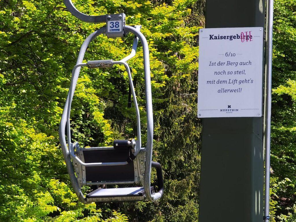 Mit dem Kaiserlift Kufstein gemütlich ins Kaisergebirge